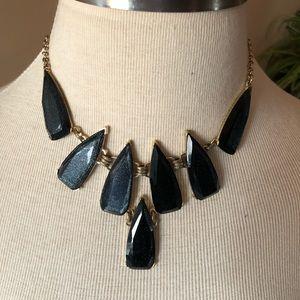 Midnight blue statement necklace